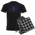 Indiana Flag Men's Dark Pajamas