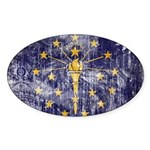 Indiana Flag Sticker (Oval 10 pk)