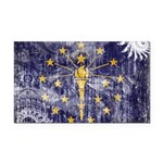 Indiana Flag Rectangle Car Magnet