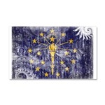 Indiana Flag Car Magnet 20 x 12