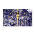 Indiana Flag 38.5 x 24.5 Wall Peel