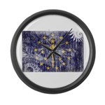 Indiana Flag Large Wall Clock