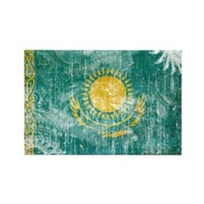 Kazakhstan Flag Rectangle Magnet (10 pack)