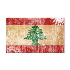 Lebanon Flag Rectangle Car Magnet