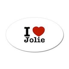 I love Jolie 22x14 Oval Wall Peel