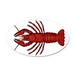 Crawfish Oval Car Magnet