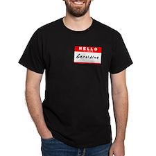 Geraldine, Name Tag Sticker T-Shirt