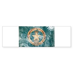 &quot;Northern Mariana Islands Flag&quot; Sticker (Bumper 50