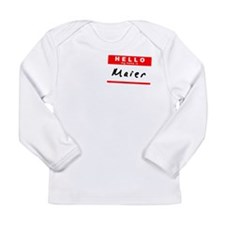 Maier, Name Tag Sticker Long Sleeve Infant T-Shirt