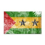 Sao Tome and Principe Flag Rectangle Car Magnet