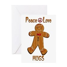 Peace Love Hugs Greeting Card