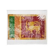 Sri Lanka Flag Throw Blanket