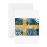 Sweden Flag Greeting Cards (Pk of 20)