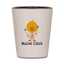 Mallet Chick Shot Glass