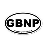 Glacier Bay National Park Oval Car Magnet