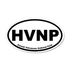 Hawaii Volcanoes National Park Oval Car Magnet
