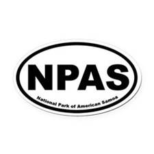 National Park of American Samoa Oval Car Magnet