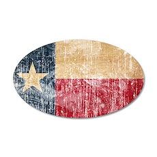 Texas Flag 22x14 Oval Wall Peel