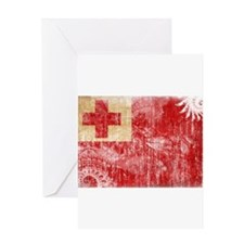 Tonga Flag Greeting Card