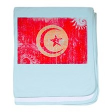 Tunisia Flag baby blanket