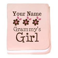 Personalized Grammy's Girl baby blanket