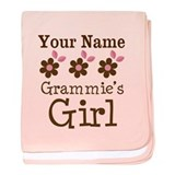 Personalized Grammie's Girl baby blanket