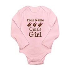 Personalized Oma's Girl Baby Suit