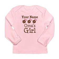 Personalized Oma's Girl Long Sleeve Infant T-Shirt