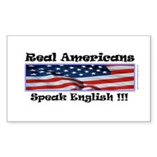 American English Rectangle Decal
