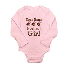 Personalized Nonna's Girl Long Sleeve Infant Bodys