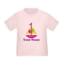 Personalized 4th Birthday Sailboat T