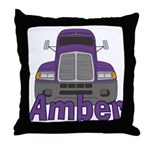Trucker Amber Throw Pillow