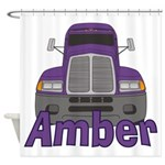 Trucker Amber Shower Curtain