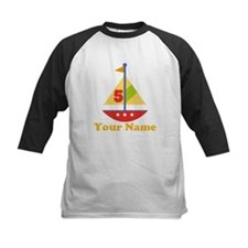 Personalized 5th Birthday Sailboat Tee