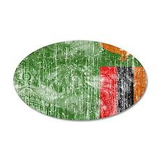 Zambia Flag 22x14 Oval Wall Peel