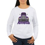 Trucker Amelia Women's Long Sleeve T-Shirt