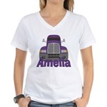 Trucker Amelia Women's V-Neck T-Shirt