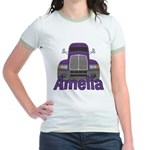 Trucker Amelia Jr. Ringer T-Shirt