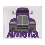 Trucker Amelia Throw Blanket