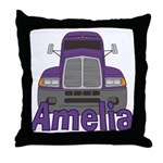 Trucker Amelia Throw Pillow