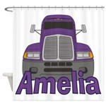 Trucker Amelia Shower Curtain