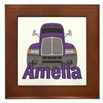 Trucker Amelia Framed Tile