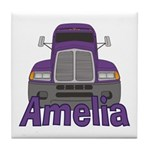 Trucker Amelia Tile Coaster