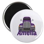 Trucker Amelia Magnet