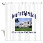 comptonhigh.png Shower Curtain