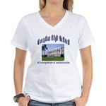 comptonhigh.png Women's V-Neck T-Shirt