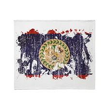 Belize Flag Throw Blanket
