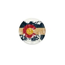 Colorado Flag Mini Button (100 pack)