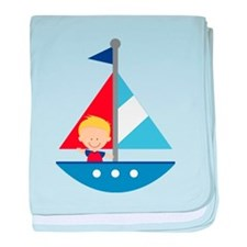 Sailboat Future Sailor baby blanket