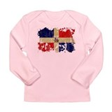 Dominican Republic Flag Long Sleeve Infant T-Shirt